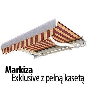 markiza tarasowa exklusive palladio selt na wymiar z pełną kasetą