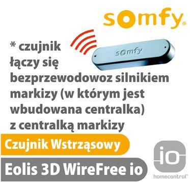 somfy czujnik wstrząsu wstrząsowy eolis 3d wirefree io
