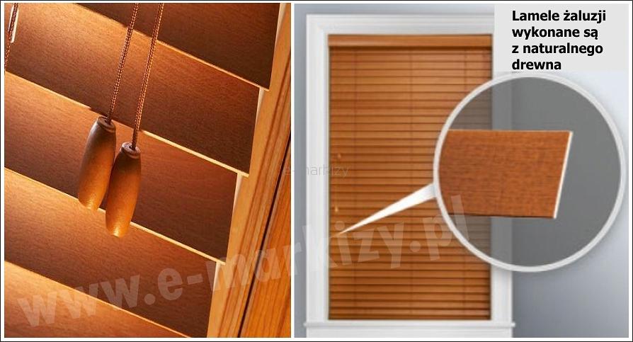 żaluzje poziome drewniane na wymiar