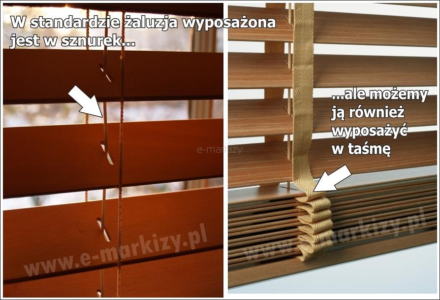 zaluzje poziome drewniane na wymiar