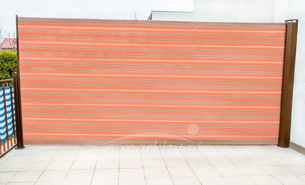 ścianka bora, ścianka z tkaniny, zasłona z tkaniny, zasłona boczna