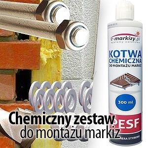 chemiczny zestaw do montazu markiz