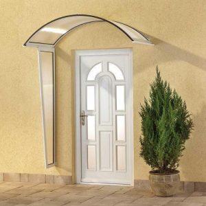 daszek łukowy, daszek okrągły, zadaszenie drzwiowe, zadaszenie nad drzwi