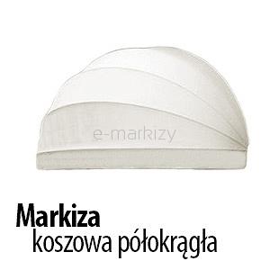 markiza koszowa polokragla