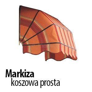 markiza koszowa prosta