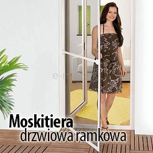 moskitiera drzwiowa ramkowa na zawiasach