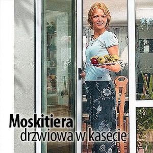 moskitiera drzwiowa w kasecie