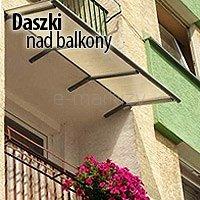 daszki nad balkony loggia