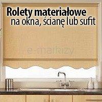 Rolety materiałowe na okna ścianę lub sufit