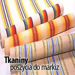 tkaniny poszycia do markiz