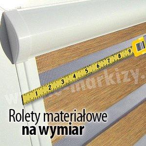 1. Rolety materiałowe na wymiar - w kasetach, mini, wolnowiszące