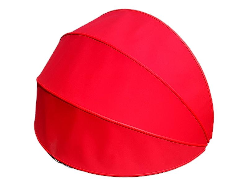 markiza koszowa mol półokrągła czerwona wyprzedaż balkonowa sklepowa