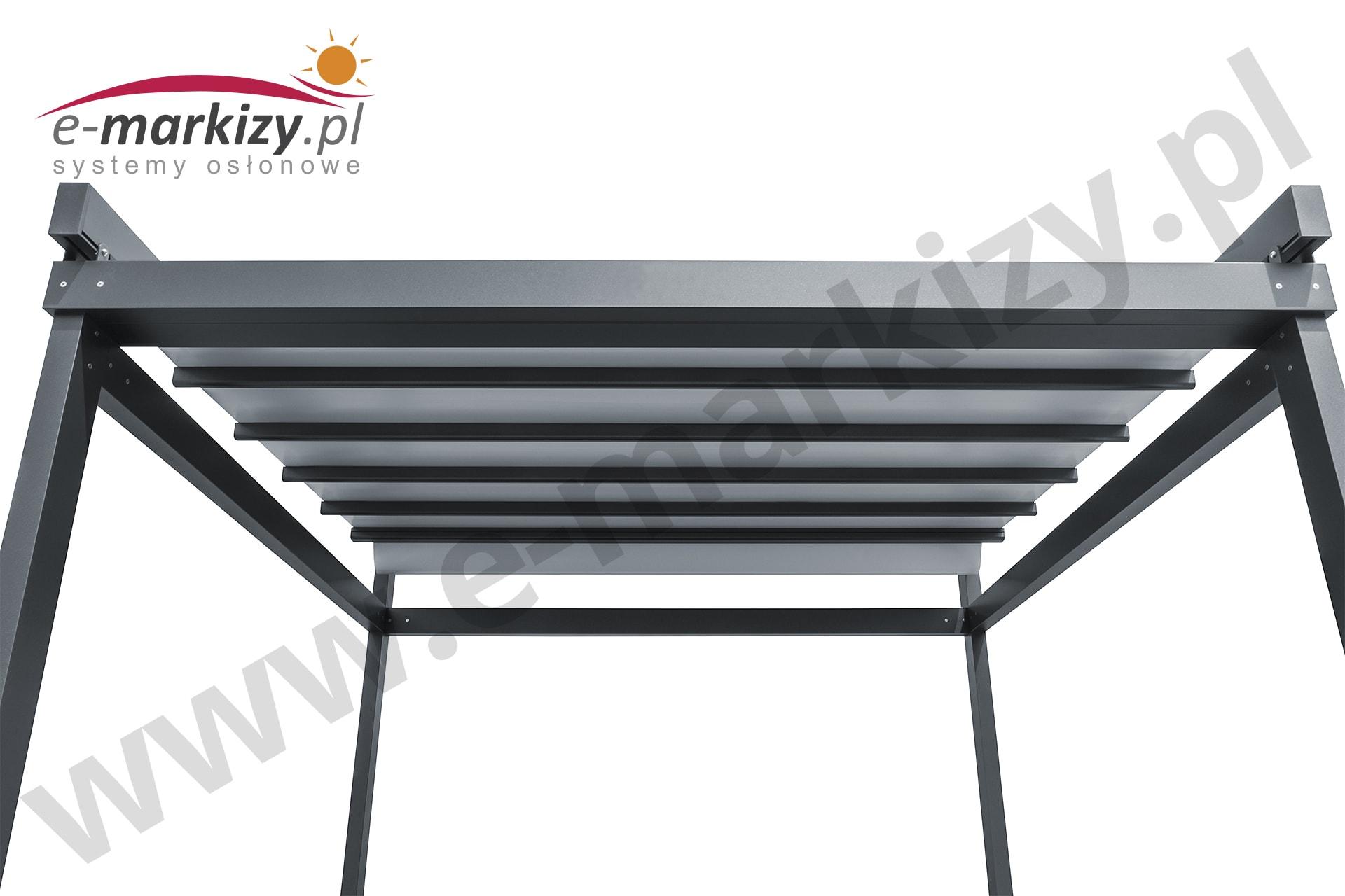 Pergola SOLID aluminium różne kolory na zamówienie