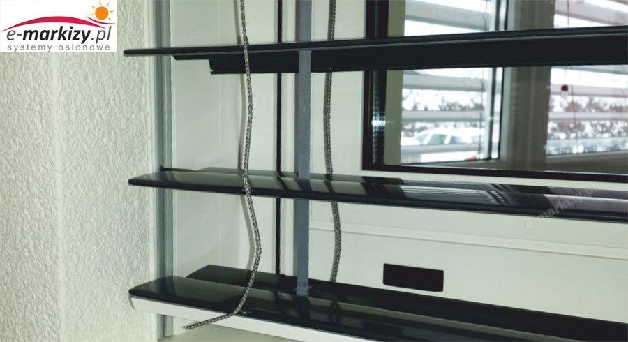 żaluzja fasadowa z90 C80 montaż podtynkowy prowadnicy