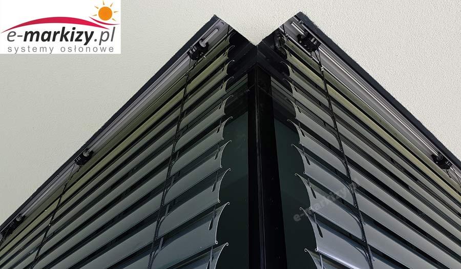 Żaluzje fasadowe c80 SELT realizacje galeria zdjęć okno narożne