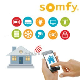Inteligentny dom somfy IO Intelligent Office Sterowanie telefonem bezprzewodowe smartphone