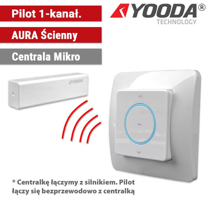 1711315 Yooda pilot ścienny aura 1-kanałowy centrala mikro
