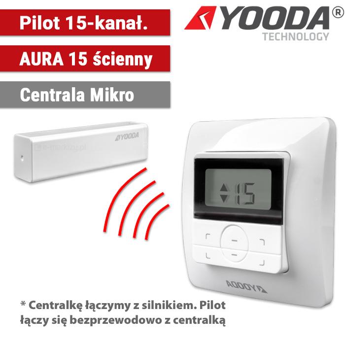 1711299 Yooda pilot ścienny aura 15-kanałowy centrala mikro