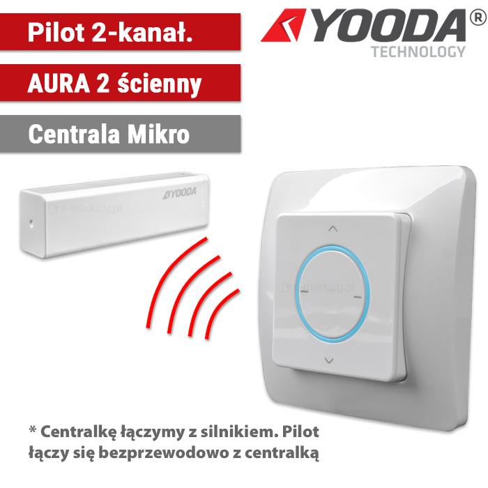 1711316 Yooda pilot ścienny aura 2-kanałowy centrala mikro