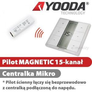 Yooda pilot ścienny magnetic 151711673 Yooda pilot ścienny magnetic 15 centrala mikro 1711615 centrala mikro 1711673