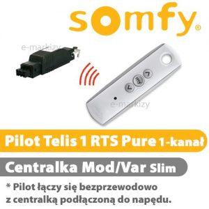 Somfy pilot telis 1 rts pure INTL 1810936 centrala mod/var slim RTS 1810802