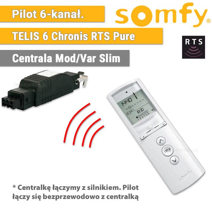 Somfy pilot telis 6 chronis rts pure 1805215 centrala mod/var slim 1810802