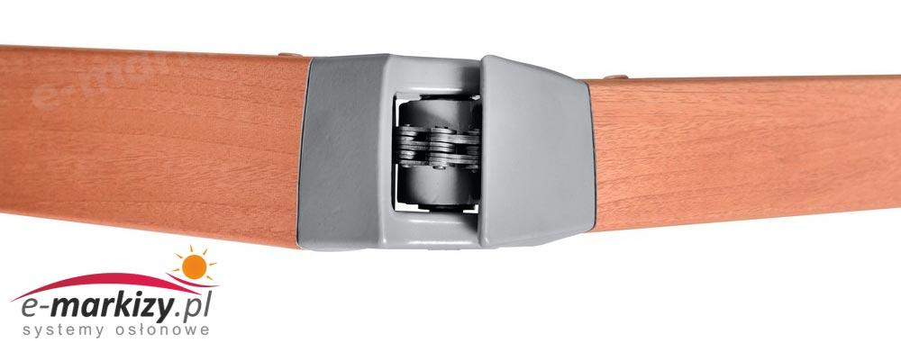 Adagio markiza tarasowa balkonowa mol ramiona markizy ułożenie ramion łańcuch sprężyna