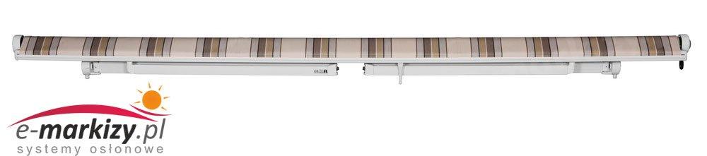 Piano mol markiza tarasowa bezkasetowa bez kasety na wymiar położenie ramion markizy