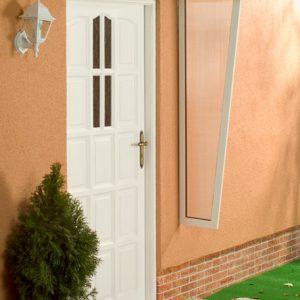 Daszek Drzwiowy Malaga biały osłona boczna