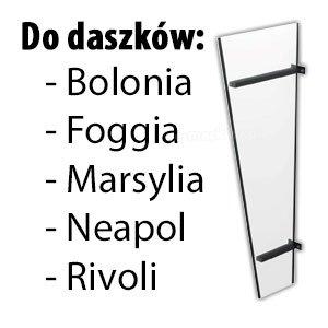 Daszek drzwiowy ściana boczna akryl akrylowa Bolonia Foggia Marsylia Neapol Rivoli