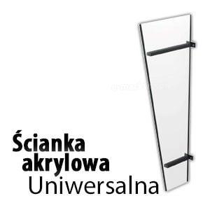 Daszek drzwiowy ściana boczna akryl akrylowa daszki nowoczesne