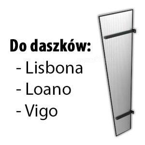 Daszek drzwiowy ściana boczna poliwęglan spis Lisbona Loano Vigo