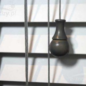 żaluzje poziome drewniane lamele 50mm, żaluzje na zamówienie