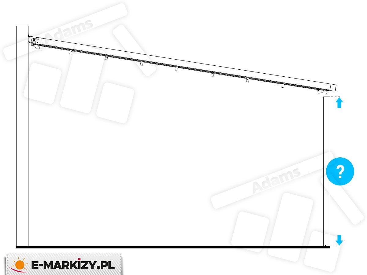 pergola tarasowa luxo belka, wysokość pergoli luxo