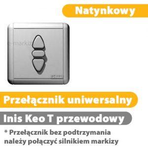 Przełącznik klawiszowy inis-keo t natynkowy 1800030