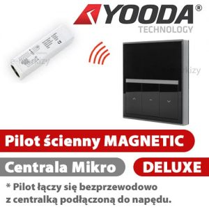 Yooda pilot ścienny magnetic deluxe czarny 1711701B centrala mikro