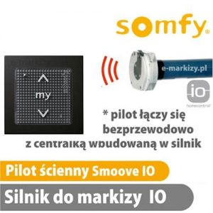 somfy pilot ścienny smoove io black shine 1811005