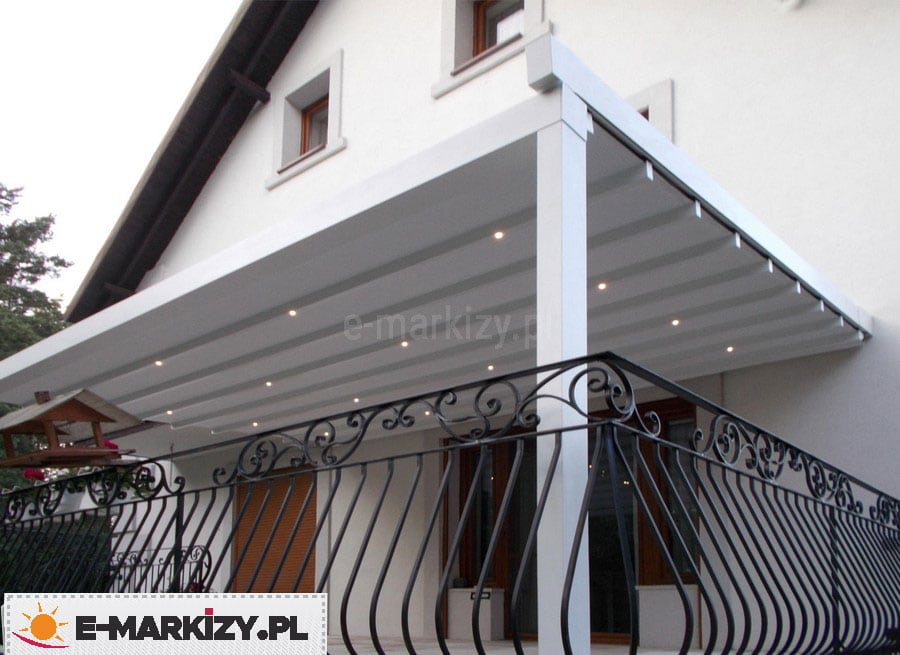 Pergola balkonowa moderno, pergola z donicą, pergola na balkonie w bloku