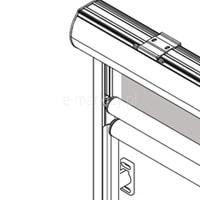 1. Prowadnice aluminiowe na uchwytach