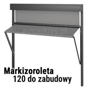Markizoroleta 120 na wymiar, markizoleta na zamówienie, roleta pionowa z wysięgiem