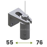 Napinacz ścienny 55-76mm