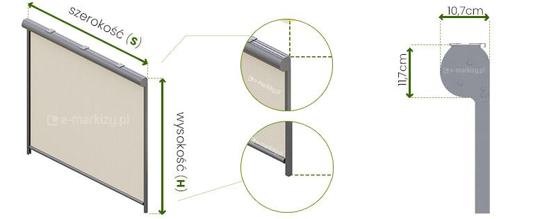 Refleksol 103 Selt wymiarowanie, pomiar refleksola, refleksole wymiary