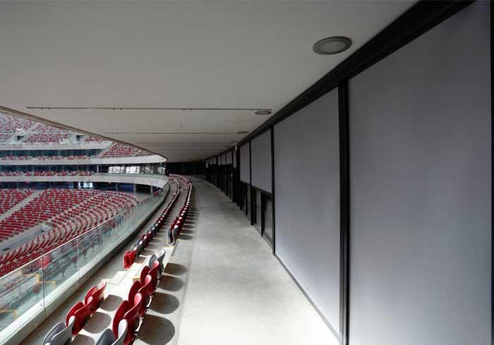 Refleksol 103 selt, stadion narodowy refleksole, osłony okienne selt, duże rolety zewnętrzne