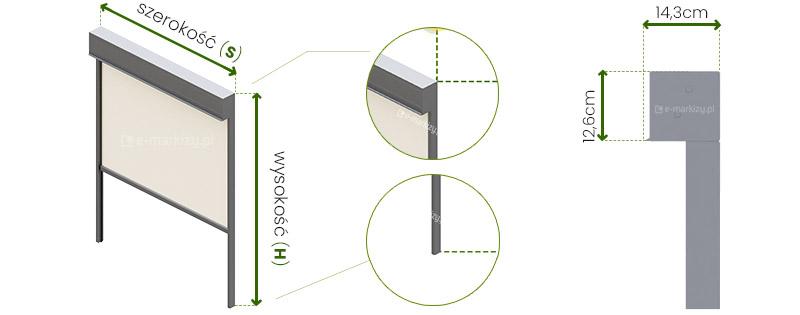 Refleksol 120 Selt wymiarowanie, pomiar refleksola, refleksole wymiary