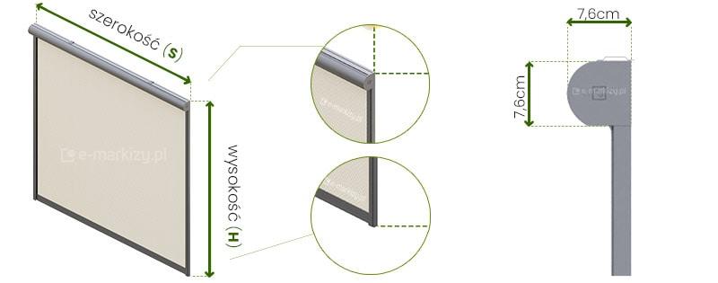 Refleksol 76 Selt wymiarowanie, pomiar refleksola, refleksole wymiary
