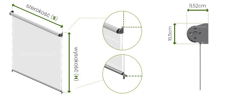 Refleksol XL Selt wymiarowanie, pomiar refleksola, refleksole wymiary