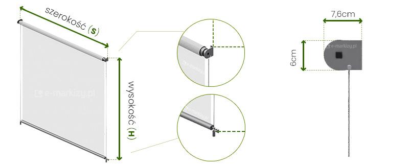 Refleksol XS Selt wymiarowanie, pomiar refleksola, refleksole wymiary