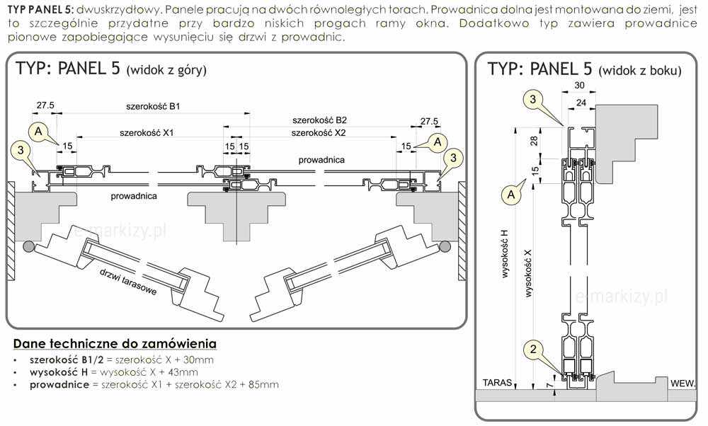 Instrukcja pomiaru moskitiery dwuskrzydłowej solid