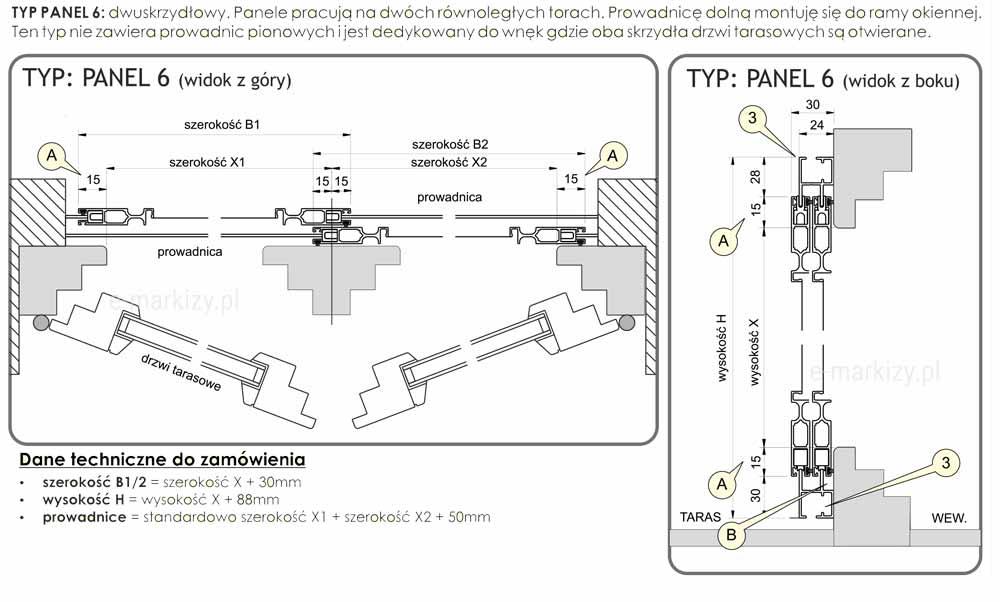 Instrukcja pomiaru moskitiery dwuskrzydłowej solid modułowej