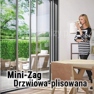 Moskitiera Mini-Zag Mol, moskitiera na wymiar, moskitiera drzwiowa mol
